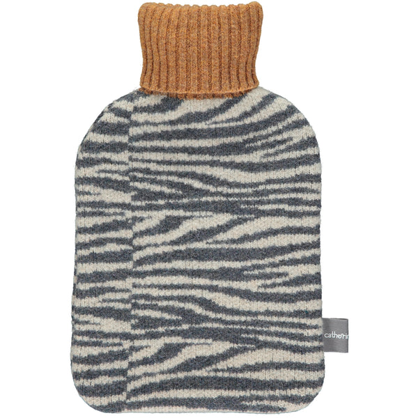 Lambswool Hot Water Bottle Cover - Zebra Stripe