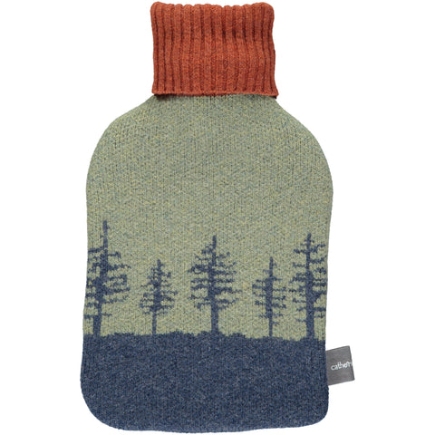 Lambswool Hot Water Bottle Cover - Forest