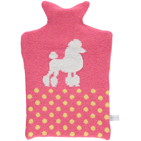 Lambswool Poodle Hot Water Bottle Cover