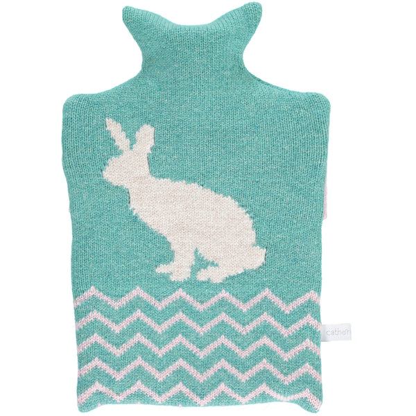 Lambswool Rabbit Hot Water Bottle Cover