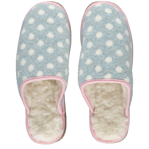 Jade Dot Lambswool & Sheepskin Slippers
