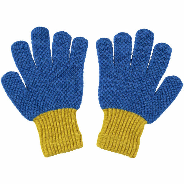 kids blue gloves