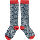 Zebra Print Kids' Cotton Knee Socks