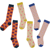 Plum, Pink & Lilac Knee Sock Bundle - Kids Cotton 3 Pack - Save 20%
