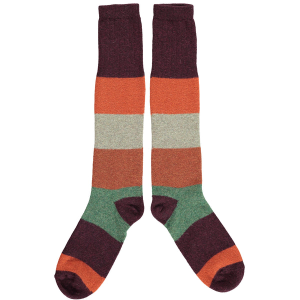 colour block socks aniseed