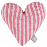 Knitted Pink Stripy Heart With Lavender