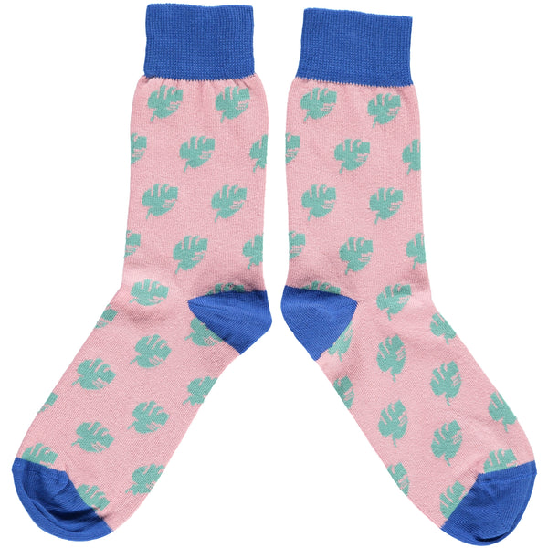 LADIES COTTON ANKLE SOCKS - CHEESE PLANT