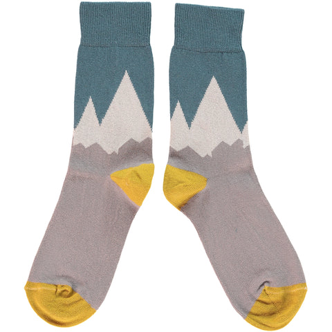 LADIES COTTON ANKLE SOCKS - MOUNTAINS