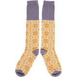 Ladies Lambswool Ginger & Oat Fair Isle Knee Socks