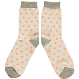 Ladies Sage Green Sheep Lambswool Ankle Socks