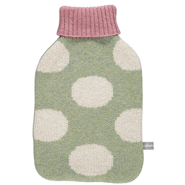 Lambswool Hot Water Bottle Cover - Big Sage Spots