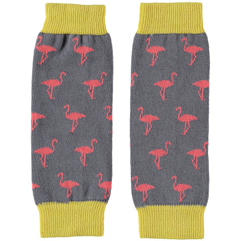 kids flamingo legwarmers