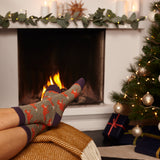 Ladies Sage Running Fox Lambswool Ankle Socks
