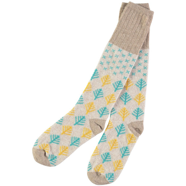 Ladies Snow & Tress Christmas socks
