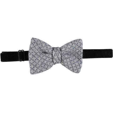 Lambswool Bow Tie - Grey Cross