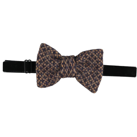 Lambswool Bow Tie -  Purple & Gold Cross