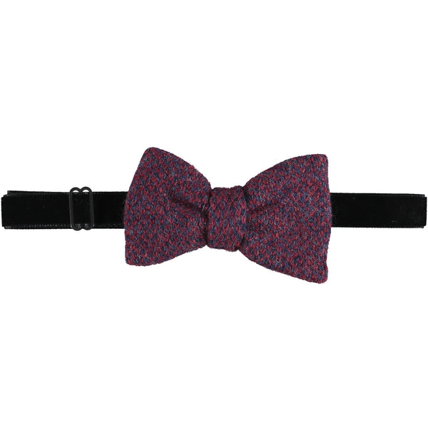 Lambswool Bow Tie -  Red & Navy Check