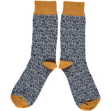 MENS COTTON ANKLE SOCKS - LEOPARD PRINT