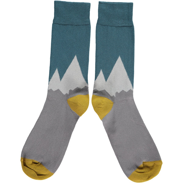 MENS COTTON ANKLE SOCKS - MOUNTAINS