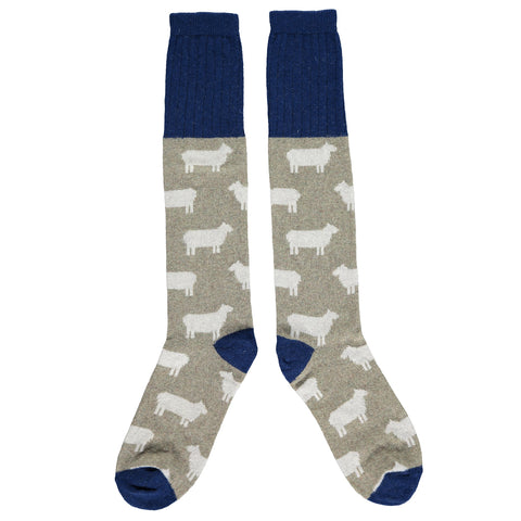 Men's Sage Sheep Lambswool Knee Socks