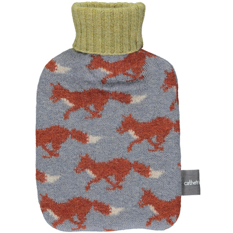 Running Fox Lambswool Mini Hot Water Bottle Set