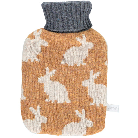 Rabbit Lambswool Mini Hot Water Bottle Set