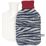 Zebra Print Lambswool Mini Hot Water Bottle Set