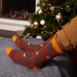Men's Terracotta Badger Lambswool Ankle Socks