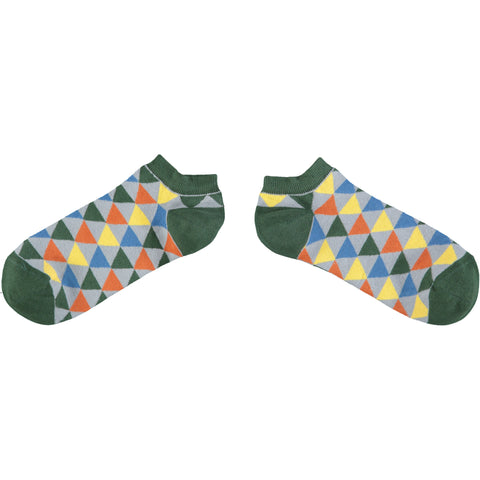 Men's Triangle Pattern Cotton Sports Socks