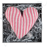 Mini Knitted Pink Stripy Heart With Lavender