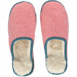 papaya pink lambswool and sheepskin slippers