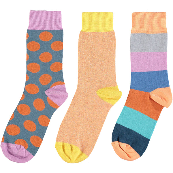 Peach & Orange Collection - Women's Cotton Ankle Sock 3 Pack - SAVE 20%