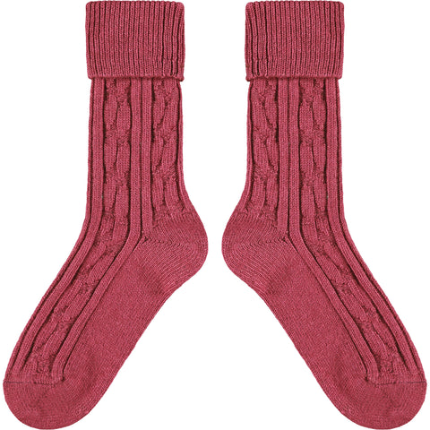 Plum Cashmere Mix Slouch Socks