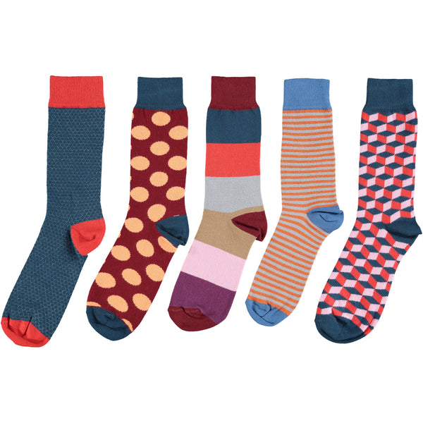 Red Five Collection - Men's Cotton Ankle Sock 5 Pack - SAVE 20%