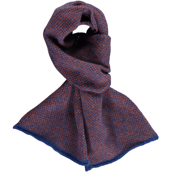 Kids' Blue Check Lambswool Scarf