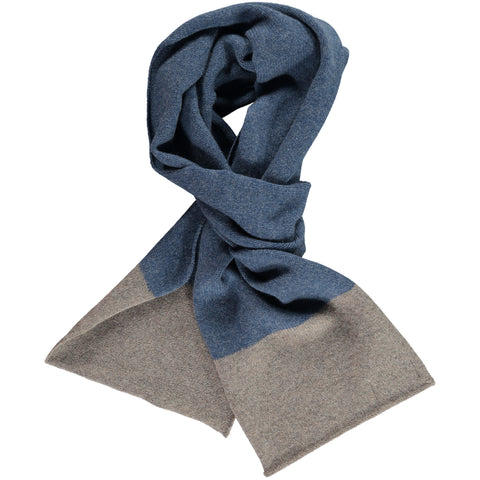 Band Mushroom & Denim Lambswool Scarf