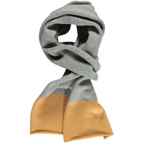 Band Gold & Grey Lambswool Scarf