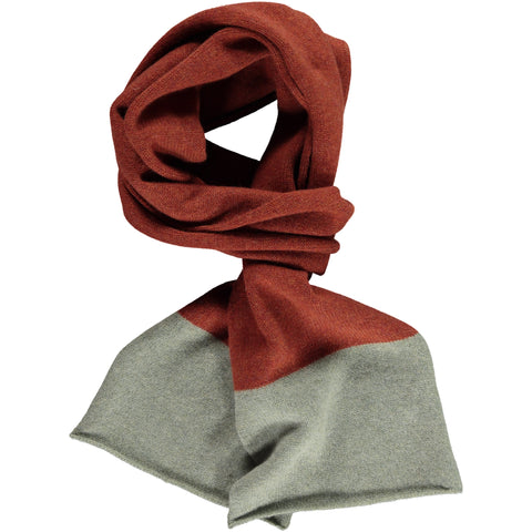 Band Sage & Rust Lambswool Scarf