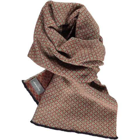 Cross Sage & Rust Lambswool Scarf