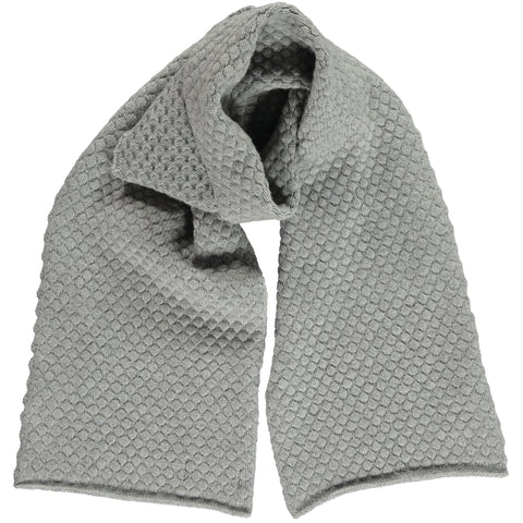 Honeycomb Grey Lambswool Scarf