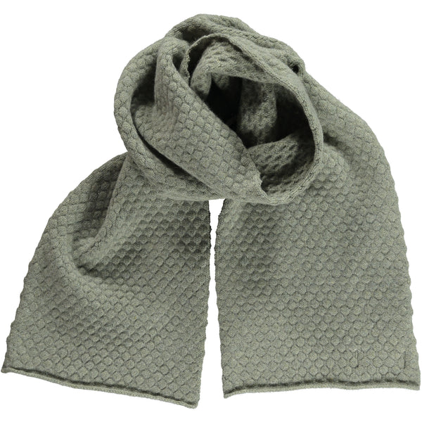 Honeycomb Sage Lambswool Scarf
