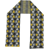 Yellow & Grey Triangle Lambswool Scarf