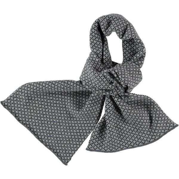 cross grey lambswool scarf