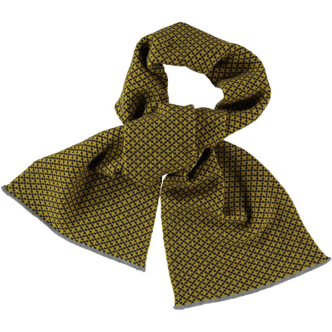 cross yellow lambswool scarf