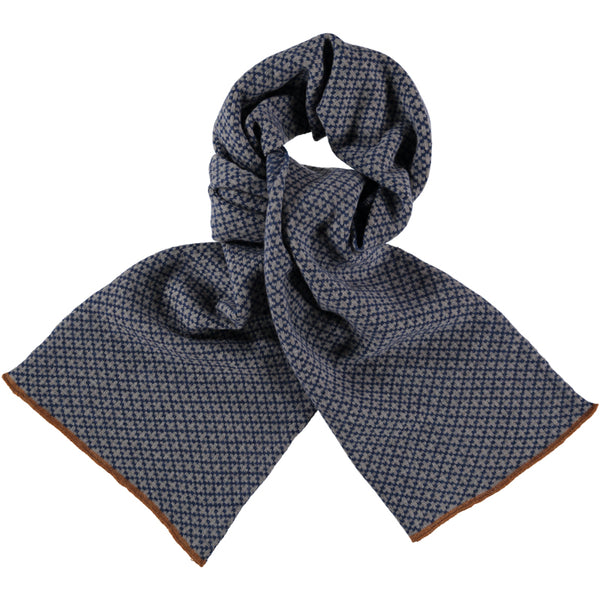 cross navy lambswool scarf