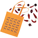 Sauntering Sausage Dogs Cotton Tote Bag
