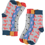 Seaside Collection - Women's Cotton Ankle Sock 3 Pack - SAVE 20%
