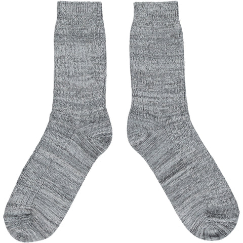 Thick Organic Cotton Socks - Grey Marl