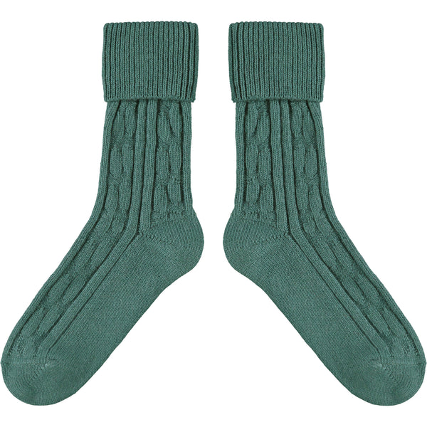 Teal Cashmere Mix Slouch Socks