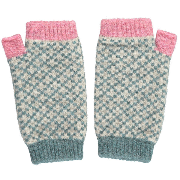 Women's Sage Cross Wrist Warmers